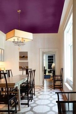 Ceiling paint idea for dining room.
