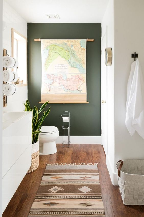 Creamy white best solution for bathroom paint color ideas.