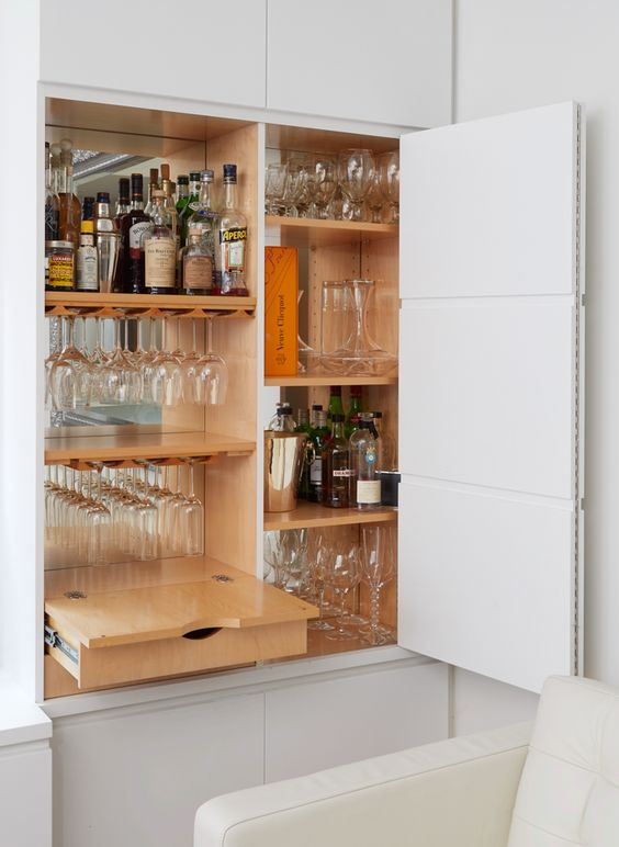 How to design Bar in the living room for 2020
