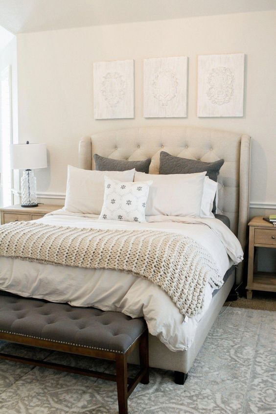Cream and tan color matching for Beautiful Bedroom Color Schemes