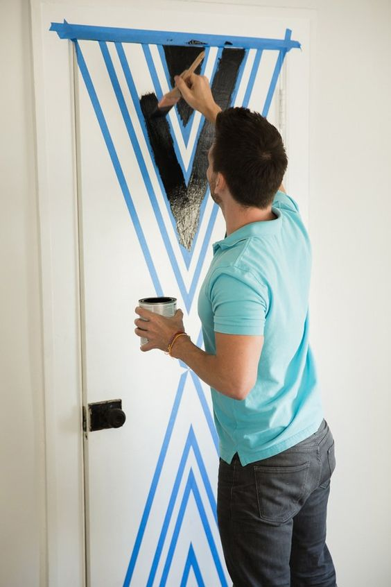 Paint your door and be your own designer.