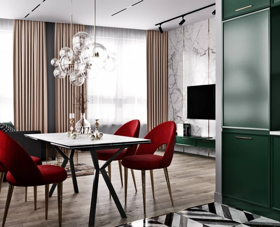 Dining room idea for small space room.