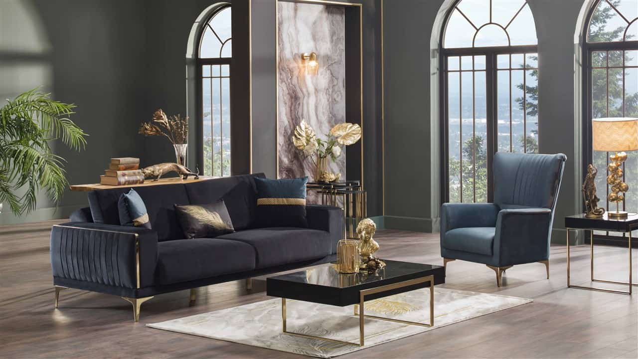 Furniture from Bellona salon is the best design for L Shaped Living Room Design.