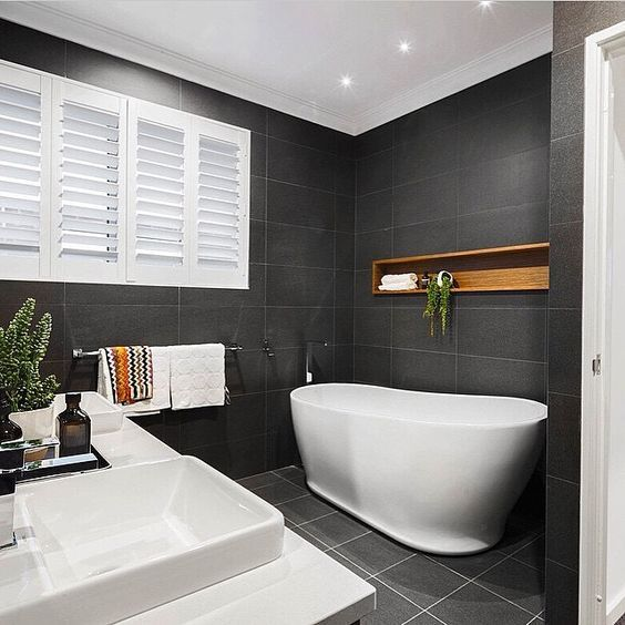 Great charcoal color for bathroom.