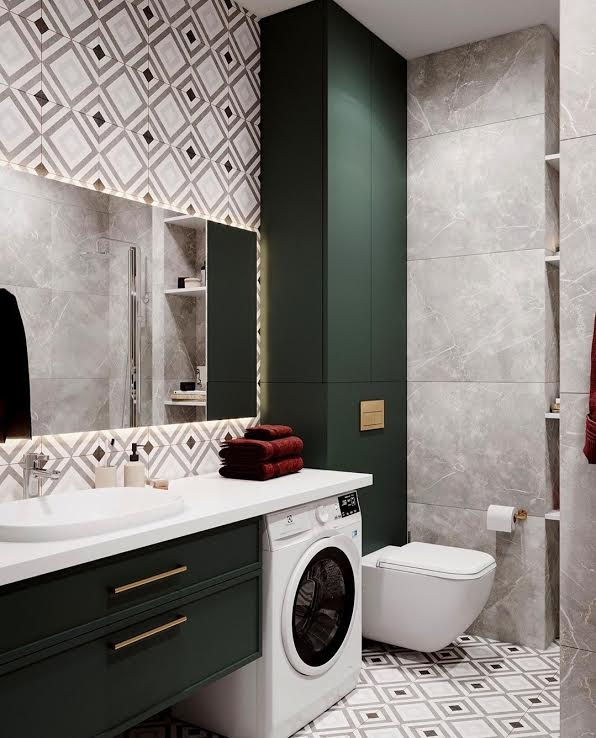 Design a bathroom in two styles