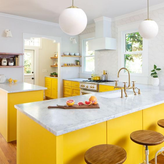 Beautiful Yellow Kitchen Designa