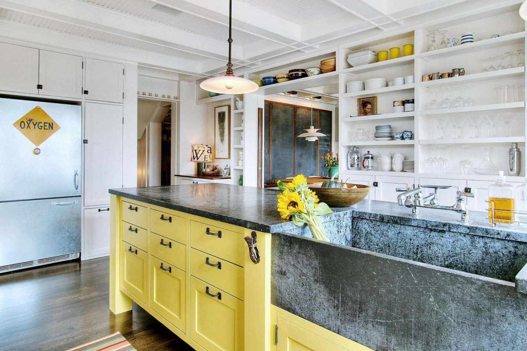 Beautiful Yellow Kitchen Design