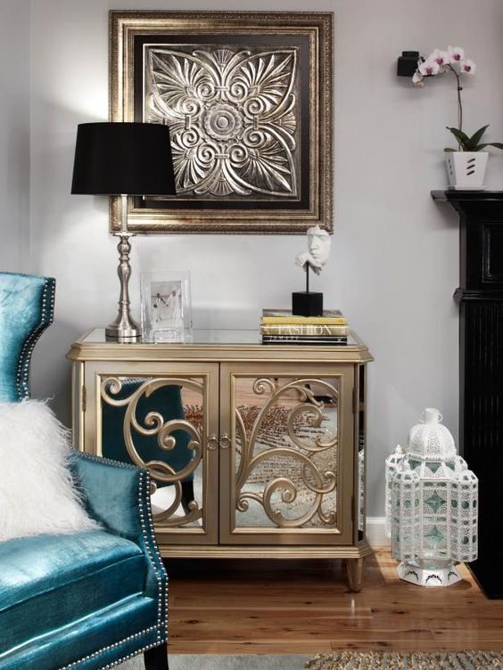 Get a Glamorous living room