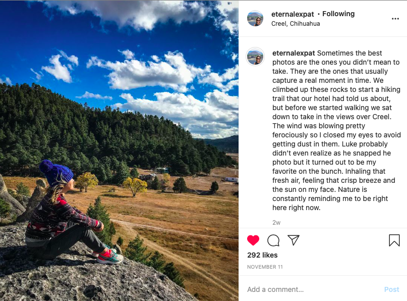will meet a travel blogger, who found her love on a trip