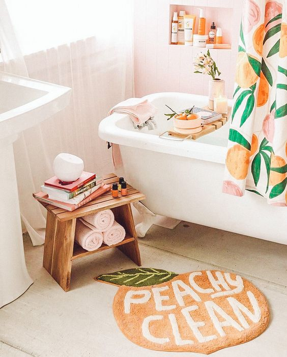 How to use peach color