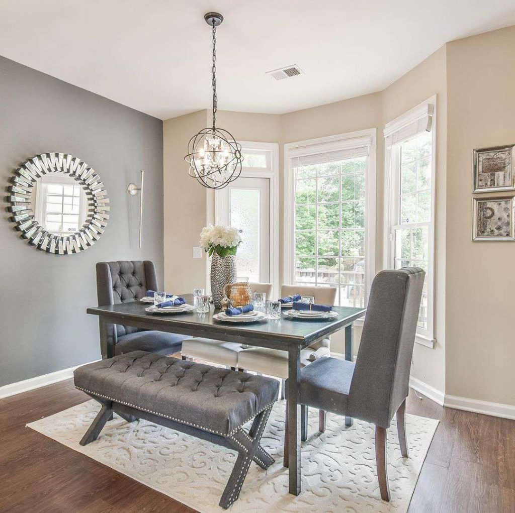 The best gray dining room